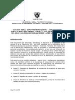 Guia de vigilancia agua potable UBICACION PUNTOS DE MUETREO colombia