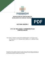 Cone Fuentes y norma de la teología CTX 126