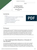 Anathapindika_ The Great Benefactor