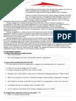 strategic management 4th yr