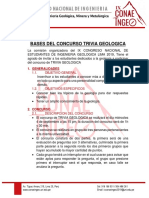BASES DEL CONCURSO DE TRIVIA GEOLOGICA