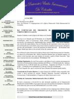 Comunicado Ipuic Coronavirus