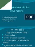 IUI - Intrauterine Insemination - Optimising Results