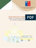 ORIENTACIONES PARA LA CERTIFICACIÓN DE ACCIONES FORMATIVAS