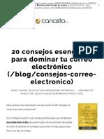 20 consejos esenciales para dominar tu correo electrónico · el Canasto