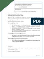 GFPI-F-019 Formato Guia de Aprendizaje  Corregir la falla electrica