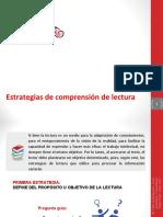 PPT Estrategias de Comprensión Lectora
