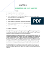 Ch21 Capital Budgeting and Cost Analysis