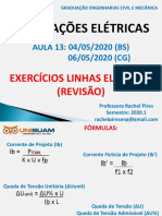 Aula 13_Exercícios Linhas Elétricas