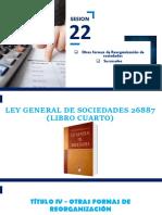 SESION 22 - REORGANIZACION DE SOCIEDADES - SUCURSALES