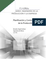 Morales. Planificación y control