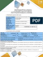 Guía de actividades y rubrica de evaluación - Fase 5 - Propuesta Inteligencia y creatividad.pdf