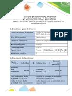 Guía de actividades y rúbrica de evaluación - Paso 5 - VIROLOGIA