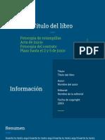 Informe sobre libro