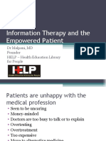 Information Therapy to Empower Patients