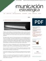 Comunicación Estratégica_ LA COMUNICACIÓN Y EL PLAN ESTRATÉGICO.pdf