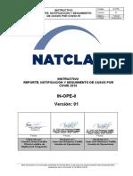 Anexo 10, Instructivo de Reporte, Notificación y Seguimiento de casos por COVID-19