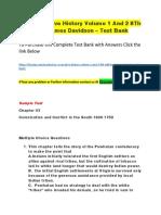 US a Narrative History Volume 1 and 2 8Th Edition ByJames Davidson – Test Bank