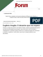 Eugênio Aragão_ O desastre que nos espera