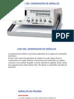 Uso Generador de señales