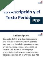 La Descripción y El Texto Periodístico