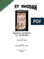 P-278 - Missão Secreta na Lemúria - William Voltz