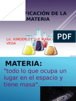 2. CLASIFICACION DE LA MATERIA