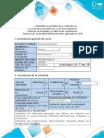 Guía de actividades y rúbrica de evaluación – Caso Final. Actividad Administrativa aplicada en IPS.docx
