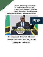 Uchambuzi wa Kiintelijensia Kuhusu Mustakabali wa Magufuli Kutokana na Anavyoshughulikia Janga la Korona