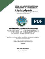 1. ESTRUCTURA DEL INFORME FINAL DE PROYECTO PEM