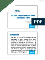 08 Excel 2013 - Tablas, Orden, Subtotales, Filtros y Filtros Avanzados