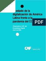 El Estado de la Digitalización de América Latina frente a la pandemia del COVID-19