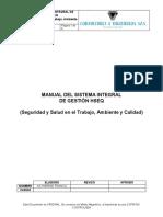 CI-HSEQ-M-01 Manual del Sistema Integral de Gestion