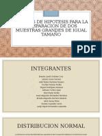 PRUEBAS DE HIPOTESIS PARA LA COMPARACION DE DOS
