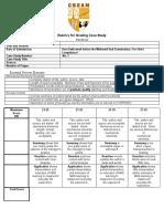Rubrics for Grading Case Study (INDIVIDUAL)