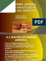 4.1 Norma jurídica Orden Jurídico y Sistema Jurídico