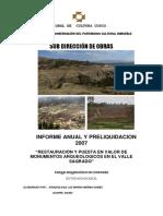 Parque arqueológico de Chinchero sector Wataycarcel
