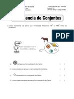 PERTENENCIA DE CONJUNTOS