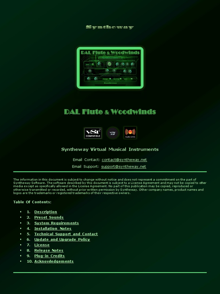 DAL Flute & Woodwinds VST VST3 Audio Unit: Virtual Flute, Oboe