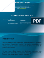 Formation Gestion des stocks