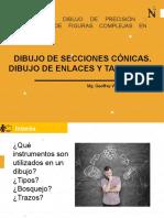 DIBUJO DE SECCIONES CÓNICAS. DIBUJO DE ENLACES Y TANGENTES Geoffrey W Salas.pptx