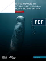 Predicting the impacts of mining deep sea polymetallic nodules in the Pacific Ocean