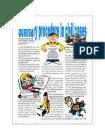 Summary procedure in civil cases