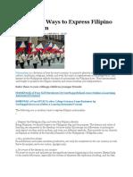10 Modern Ways to Express Filipino Nationalism.docx