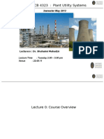 Overview Plant Utility System