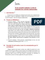 protocole de sécurité covid-ministere industrie