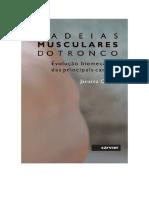 Livro Cadeias Musculares do Tronco PDF  Ed Sarvier