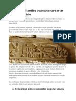 tehnologii antice