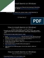 Tutorial - How to install deemix on Windows