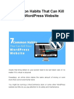7 Common Habits That Can Kill Your WordPress Website